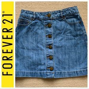 Forever 21 denim button skirt